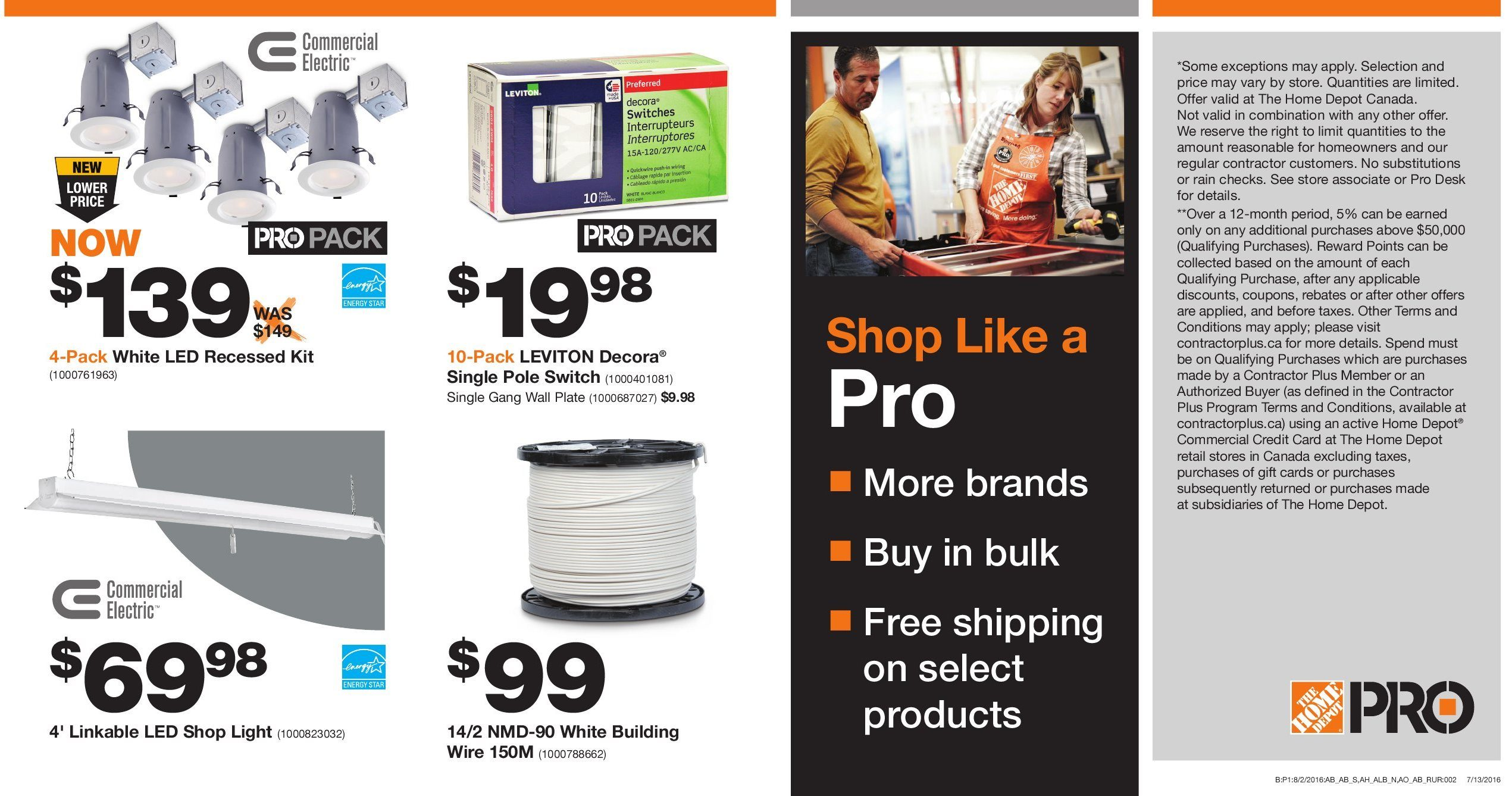 Home Depot Weekly Flyer - Pro Savings - Aug 16 – 29 - RedFlagDeals com