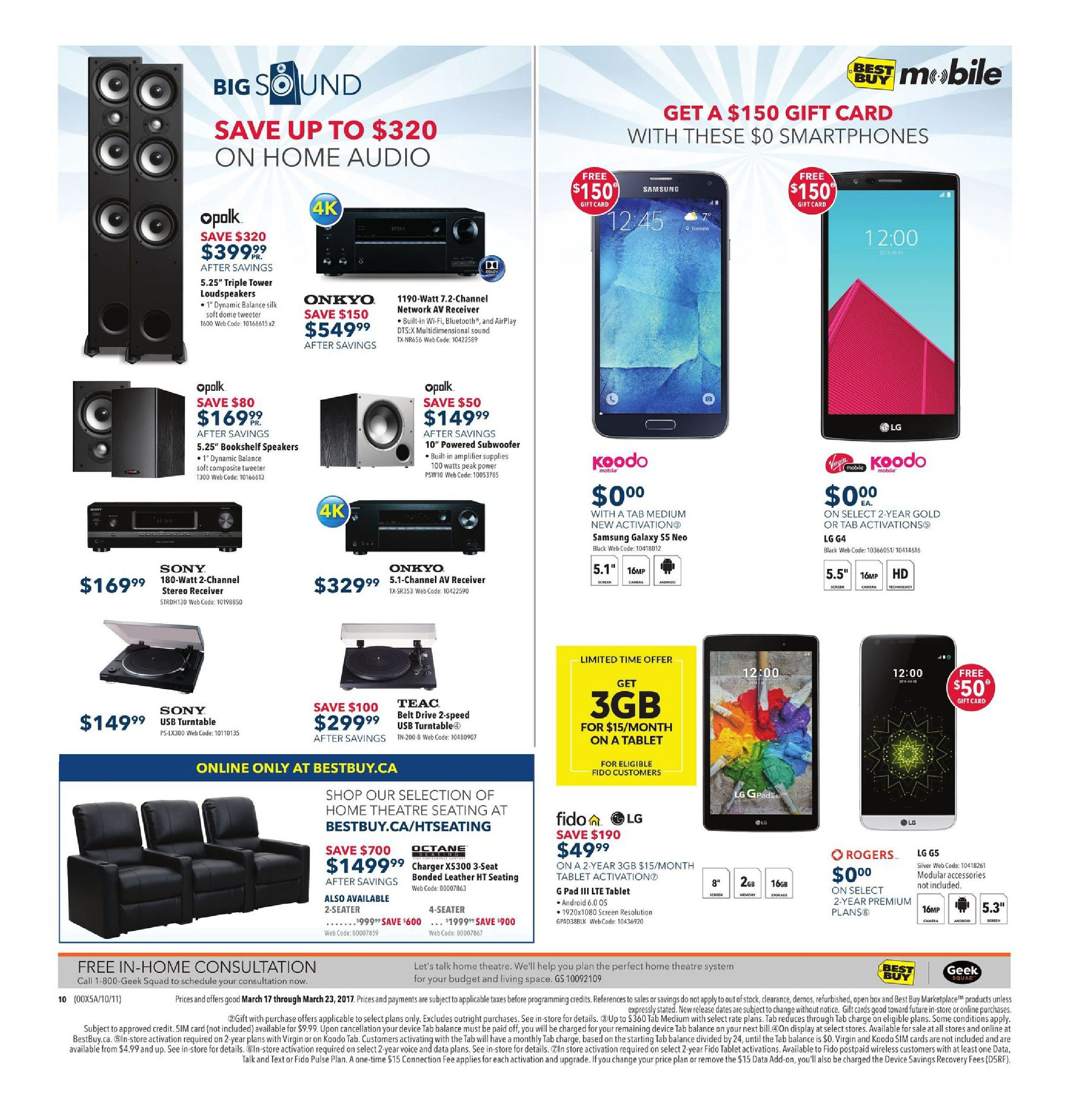 Best Buy Weekly Flyer - Weekly - Spring Sale - Mar 17 – 23