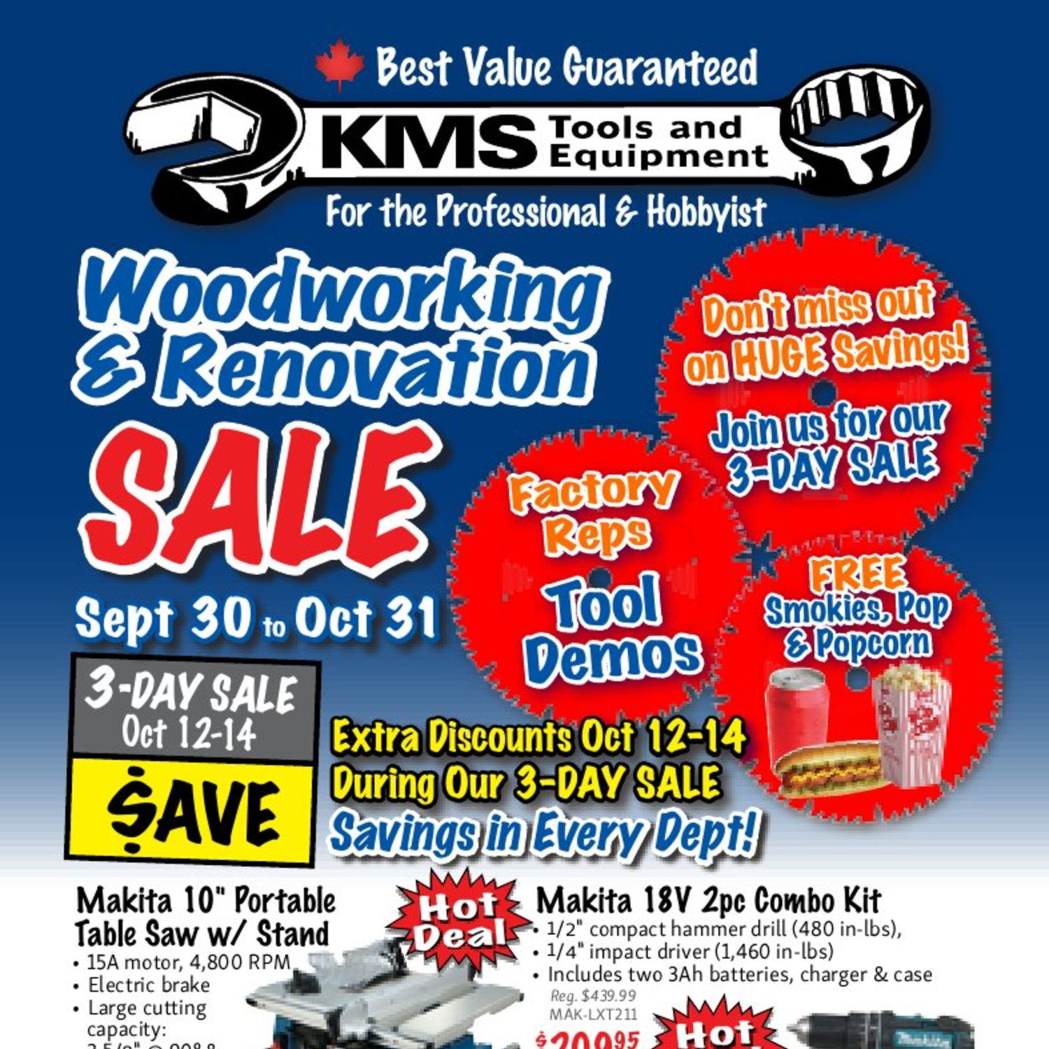 KMS Tools Weekly Flyer Woodworking & Renovation Sale Sep 30