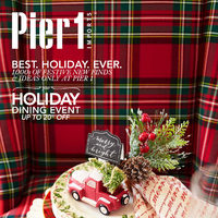Pier1 Import - Monthly Book - Best. Holiday. Ever. Plus The Holiday Dining Event Flyer