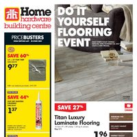 Home Hardware - Building Centre - Do It Yourself Flooring Event Flyer