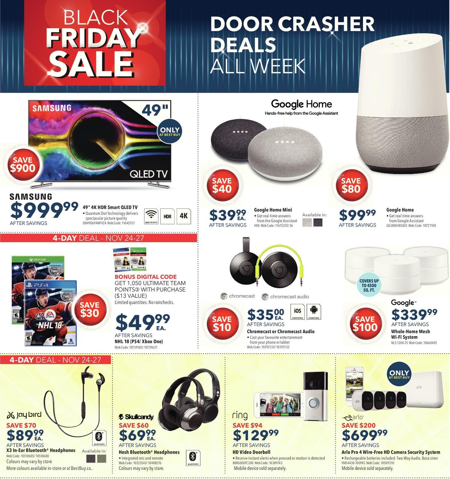 Best Buy Weekly Flyer Weekly Black Friday Sale Nov 24 – 30