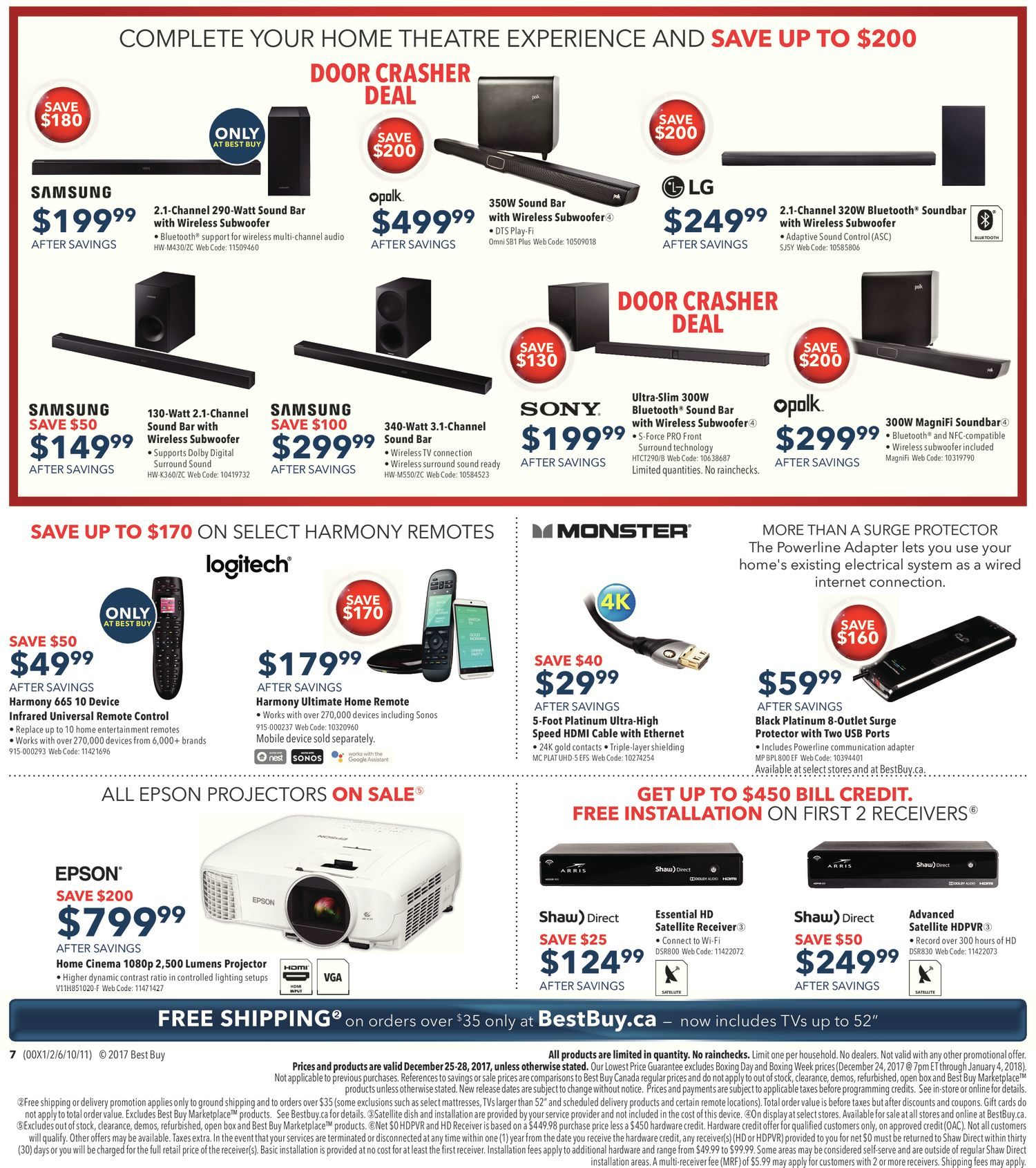 Best Buy Weekly Flyer Boxing Day Sale Dec 25 – 25