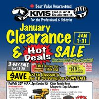 KMS Tools - January Clearance & Hot Deals Sale Flyer