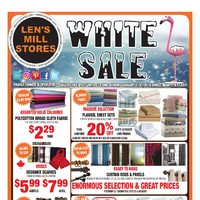 Len's Mill Stores - White Sale Flyer