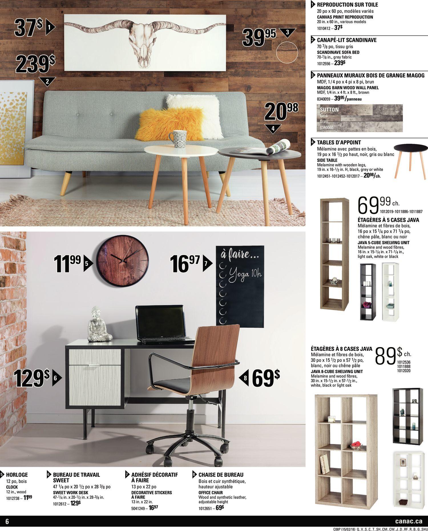 Panneau Melamine Noir Mat canac weekly flyer - decor inspiration - trends - feb 15