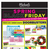 Michaels - Weekly - Spring Black Friday Flyer