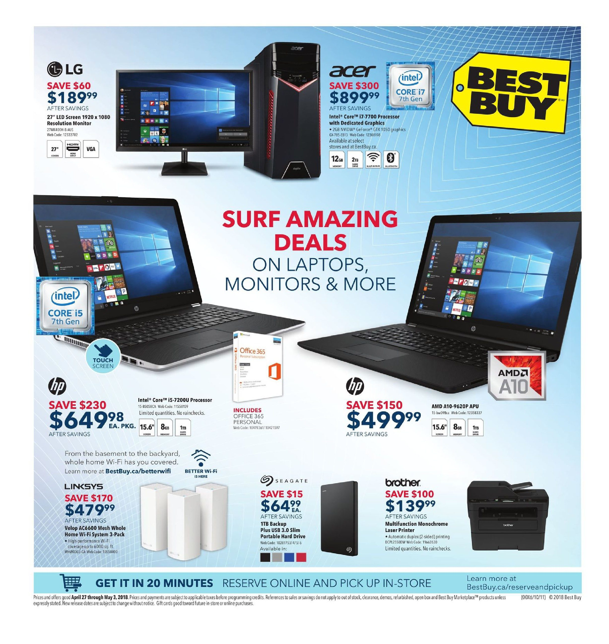 c1bad46e113 Best Buy Weekly Flyer - Weekly - Surf Amazing Deals - Apr 27 – May 3 -  RedFlagDeals.com