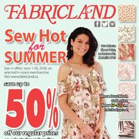 Fabricland - Sew Hot for Summer Flyer