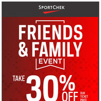 Sport Chek - Friends & Family Event - Summer Essentials Flyer