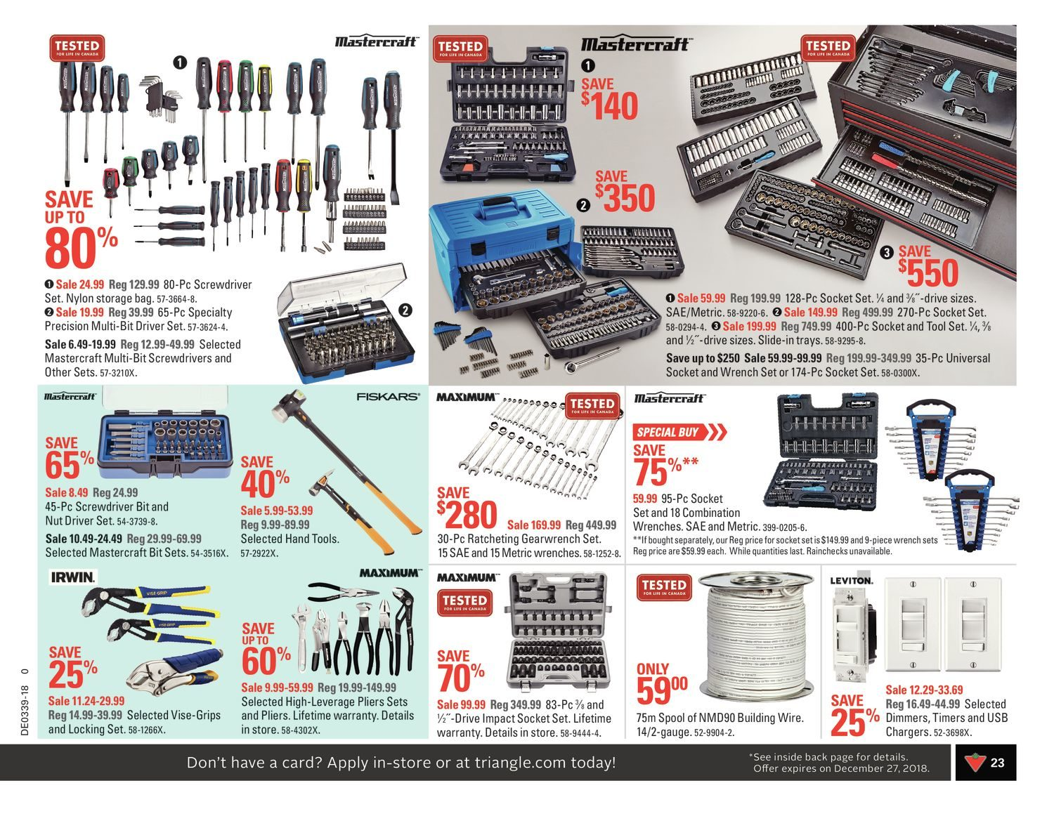 Canadian Tire Weekly Flyer All For Fall Sep 21 27 Scosche Frosted Flux Power Wire 4 Gauge Blue By