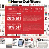 Home Outfitters - Weekly - Friends + Family Event Flyer