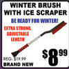 Winter Brush With Ice Scraper