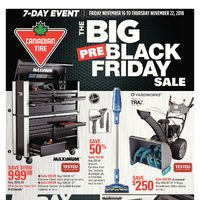 Canadian Tire - 7-Day Event - The Big Pre-Black Friday Sale Flyer