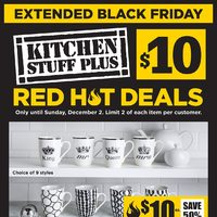 - Red Hot Deals - $10 Extended Black Friday Flyer