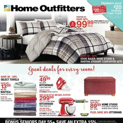 Home Outfitters - Weekly - Great Deals For Every Room! Flyer