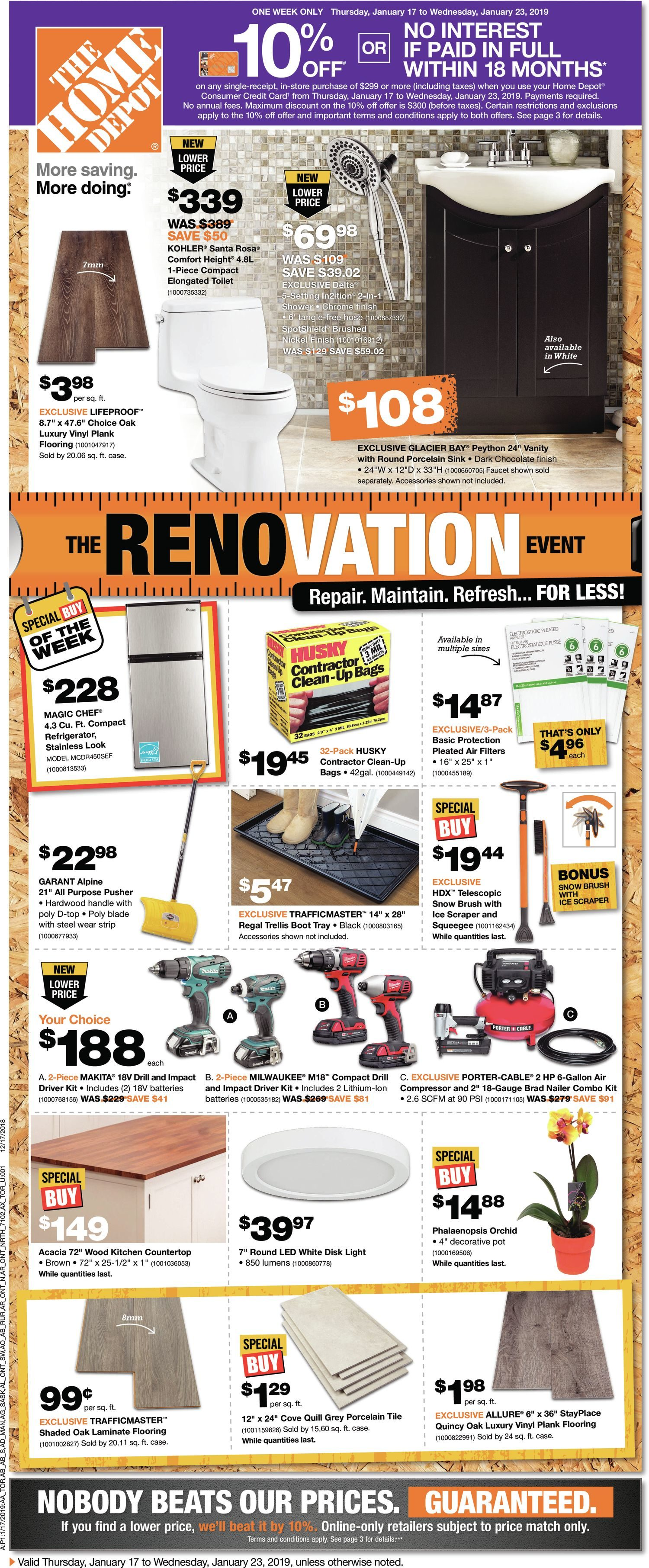 Home Depot Weekly Flyer The Renovation Event Jan 17 Whirlpool Washer 5800 Wiring Diagram 23