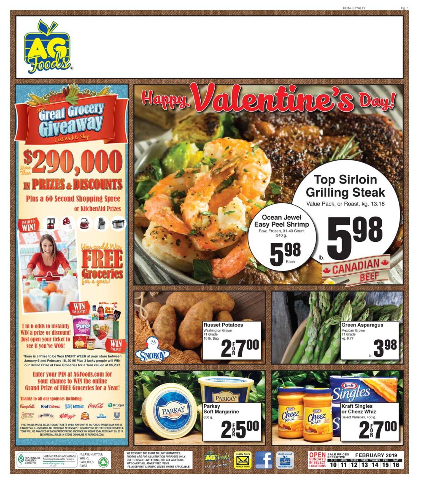 AG Foods Weekly Flyer - Weekly - Happy Valentine's Day