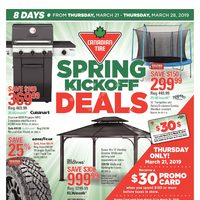 Canadian Tire - 8 Days of Savings - Spring Kickoff Deals Flyer