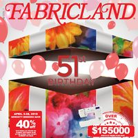 Fabricland - 51st Birthday Sale Flyer 5dede9553
