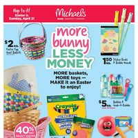Michaels - Weekly - More Bunny, Less Money Flyer