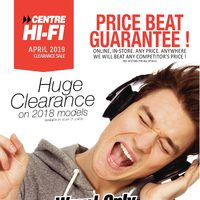Centre HIFI - April 2019 Clearance Sale Flyer