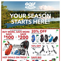 Golf Town - Your Season Starts Here! Flyer