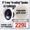 "Yamaha 6"" 2-Way ""In-Ceiling"" Speaker"