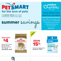 PetSmart - Treats Membership Only - For The Love of Pets Flyer
