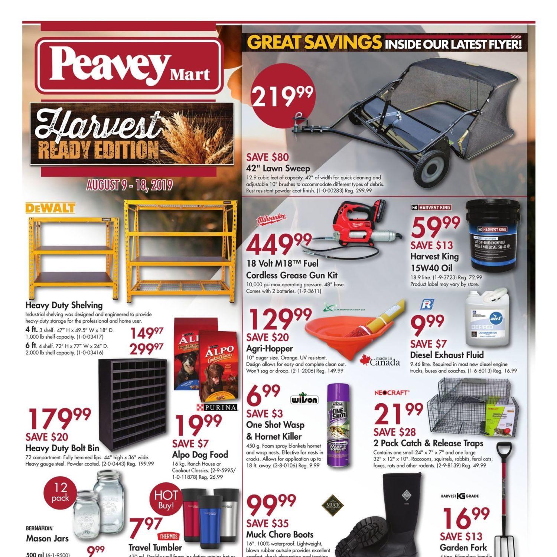 PeaveyMart Weekly Flyer - Harvest Ready Edition - Aug 9 – 18