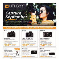Henry's - Capture September Flyer