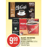 McCafe, Tim Hortons Tassimo Or Keurig Compatible Coffee Pods