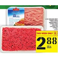 Lean Ground Beef Or Irresistibles Extra Lean Ground Chicken Or Turkey