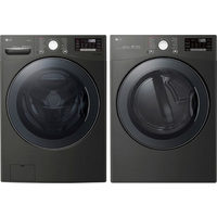 LG 5.2 Cu. Ft. TurboWash Front Load Washer & 7.4 Cu. Ft. Electric Dryer