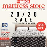 The Brick - Mattress Store - 20/20 Sale Flyer