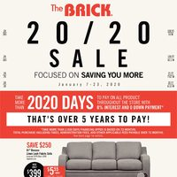 The Brick - Saving You More - 20/20 Sale Flyer