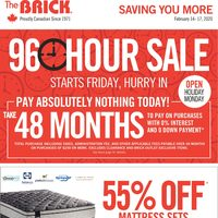 The Brick - Saving You More - 96 Hour Sale Flyer