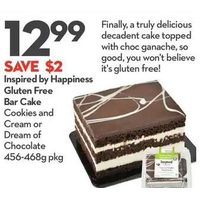 Inspired by Happiness Gluten Free Bar Cake Cookie and Cream Dream of Chocolate