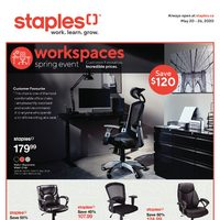 Staples - Weekly - Workspaces Spring Event Flyer
