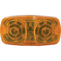 Trux 4 in. LED Double Bullseye Clearance/Marker Amber Lights