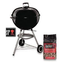 "Weber 22"" Original Kettle Grill In Black Combo With Bag Of Weber Charcoal Briquettes"