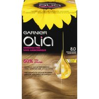 L'Oreal Excellence, Preference, Feria, Infina, Root Cover Up or Garnier Olia Hair Colour or L'Oreal Wonder Water