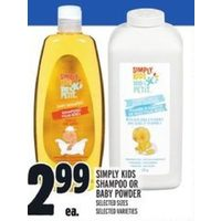 Simply Kids Shampoo Or Baby Power