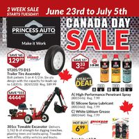 Princess Auto - Canada Day Sale Flyer