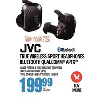JVC True Wireless Sport Headphones Bluetooth Qualcomm APTX