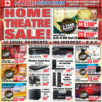 2001 Audio Video - Home Theatre Sale! Flyer
