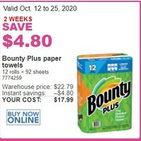 Bounty Plus Paper Towels