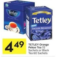 Tetley Orange Pekoe Tea Or Black Tea