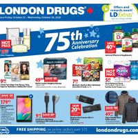 London Drugs - 6 Days of Savings - 75th Anniversary Celebration Flyer