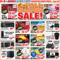2001 Audio Video - Fall Clearance Sale!	 Flyer
